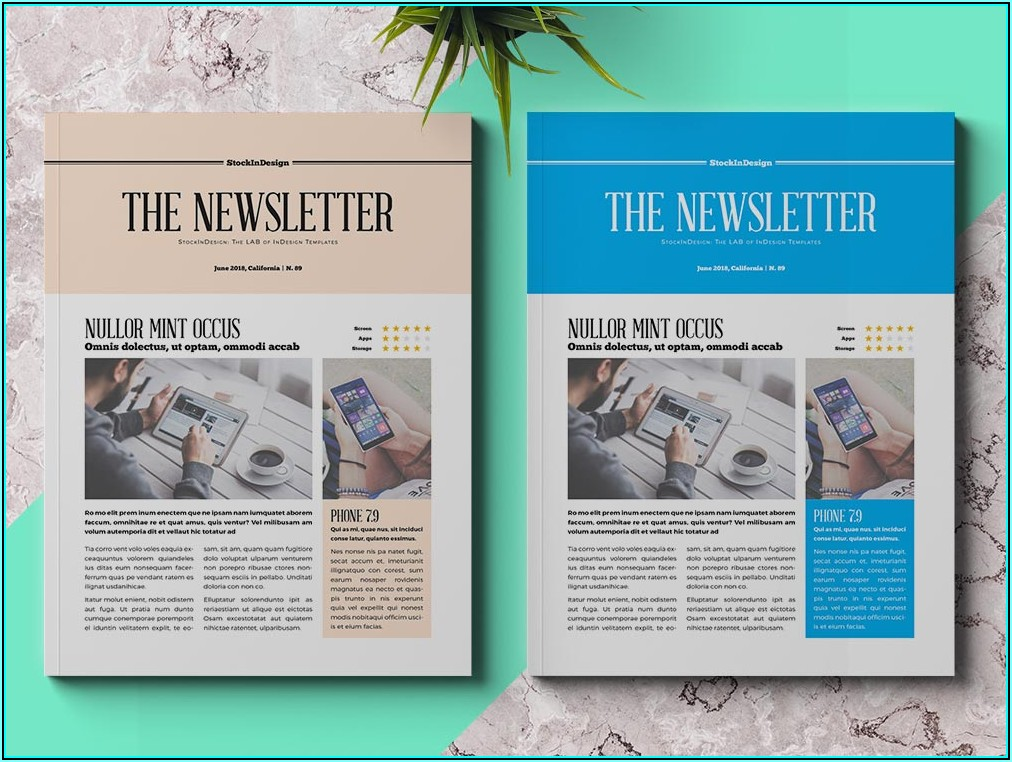 How To Make A Newsletter Template In Indesign