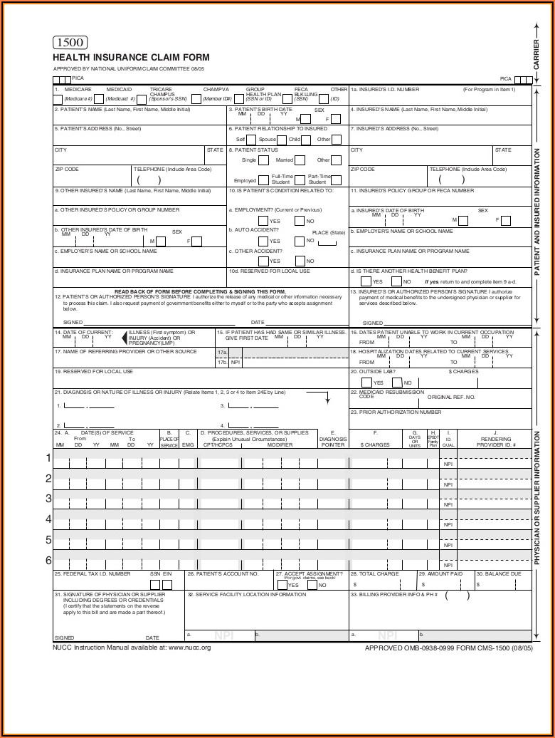Interactive Cms 1500 Forms For Students