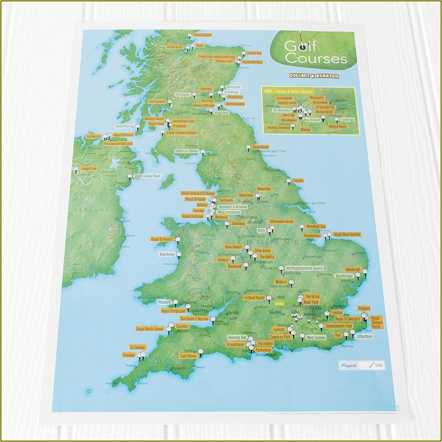 Ireland Best Golf Courses Map