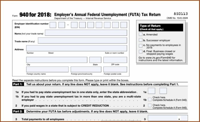 Irs Amended Form 940