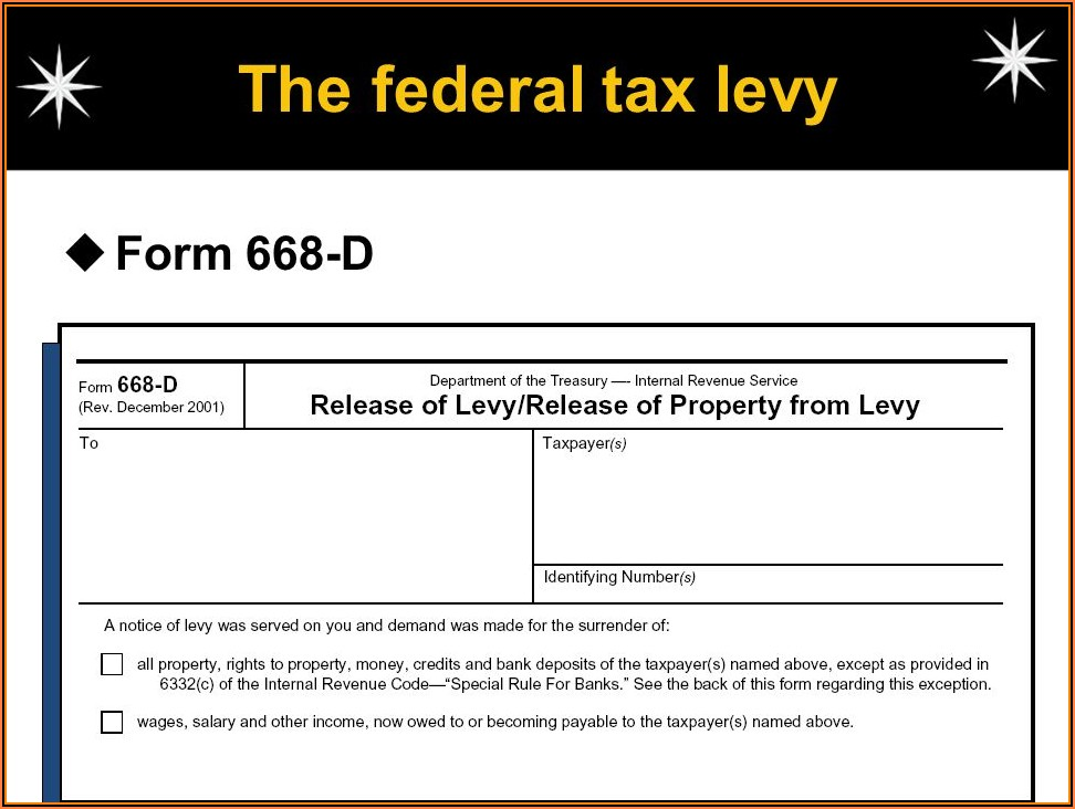 Irs Form 668 Wc) Instructions