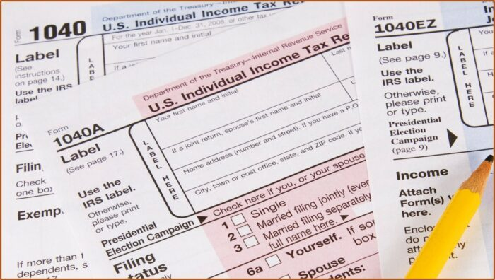Irs Printable Forms 1040a