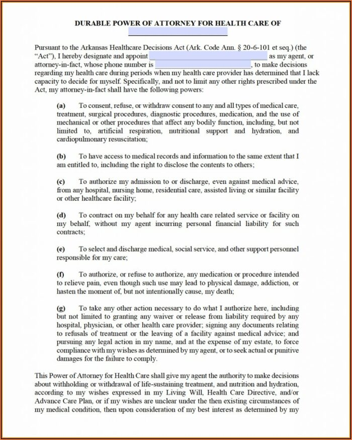 Kansas Durable Power Of Attorney For Health Care Decisions Form