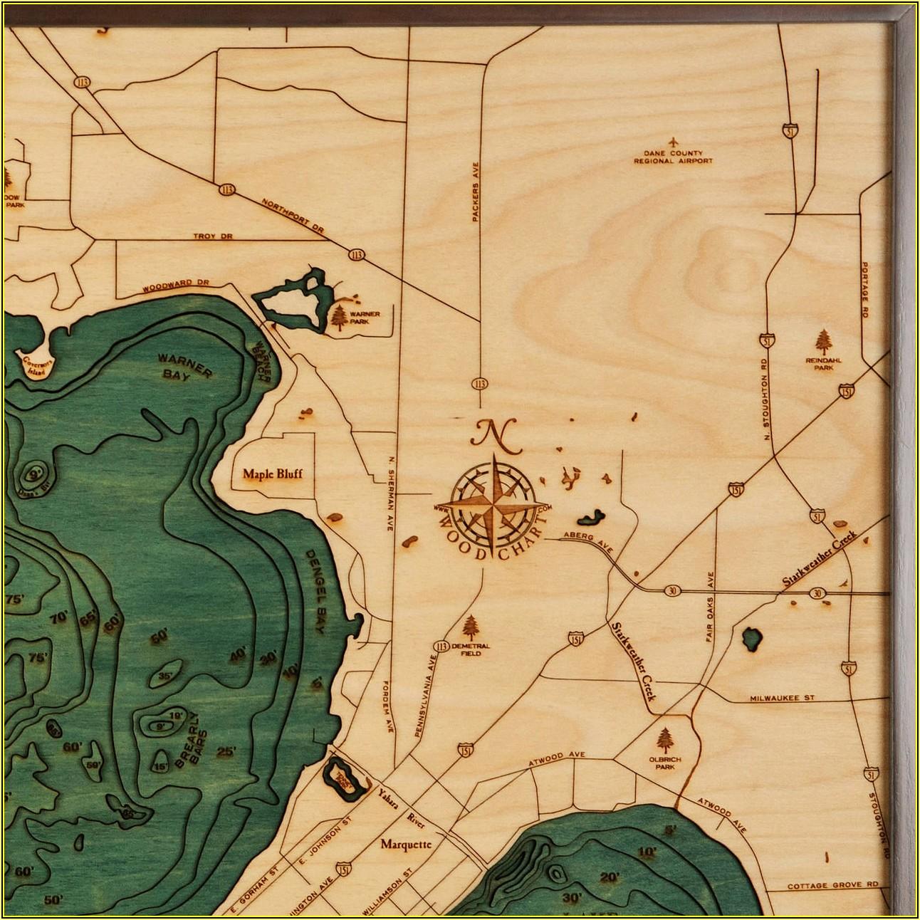 Lake Mendota Topographic Map