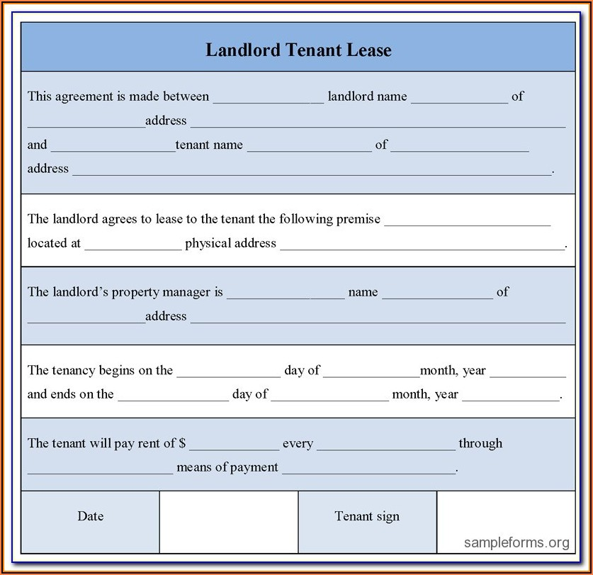 Landlord Tenancy Forms Bc