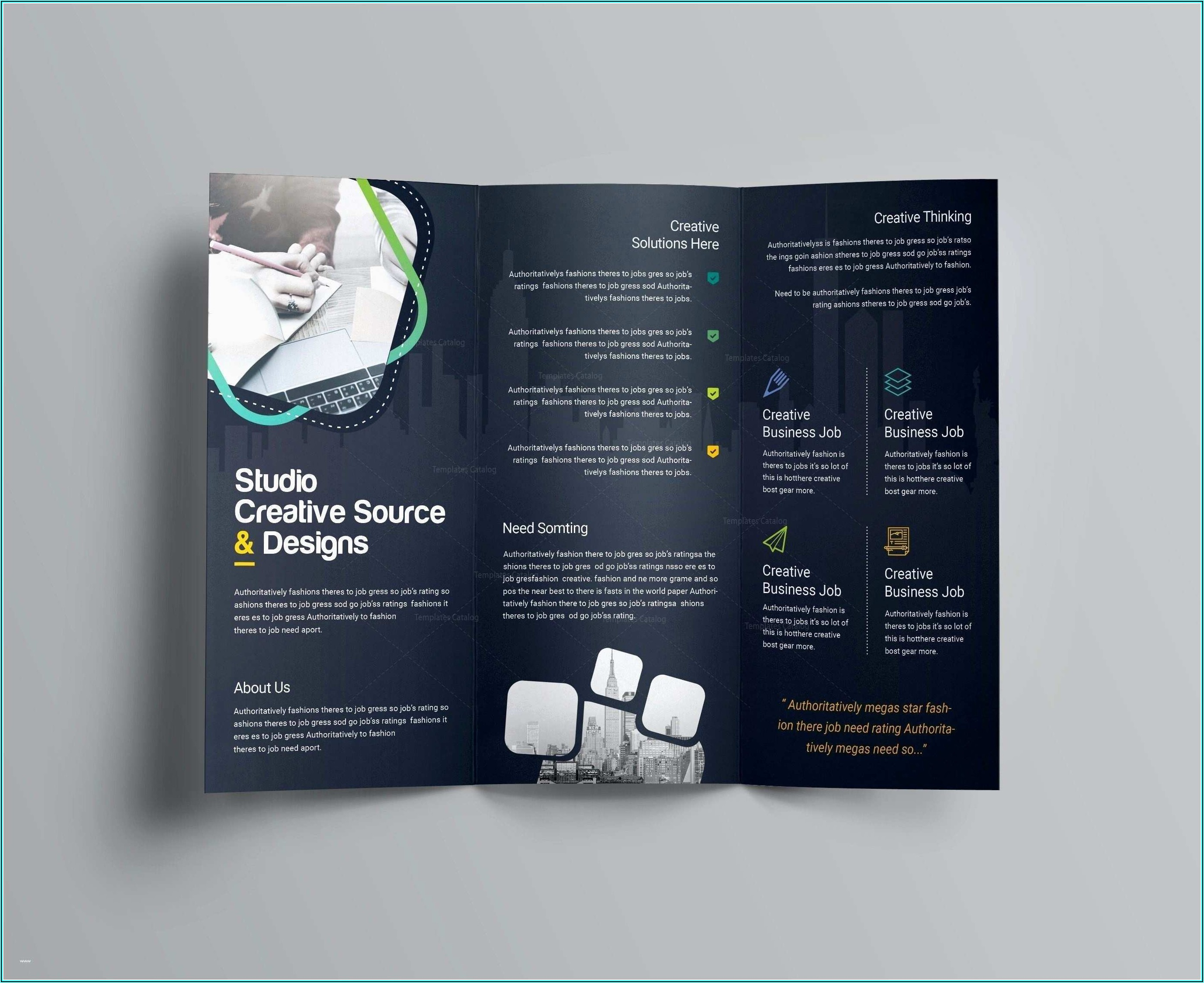 Laptop Folded Business Card Template Free Download