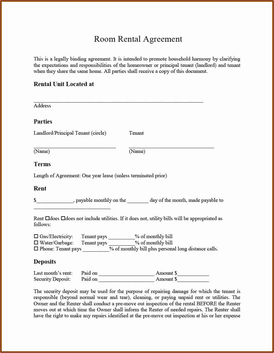 Leasing Contract Format