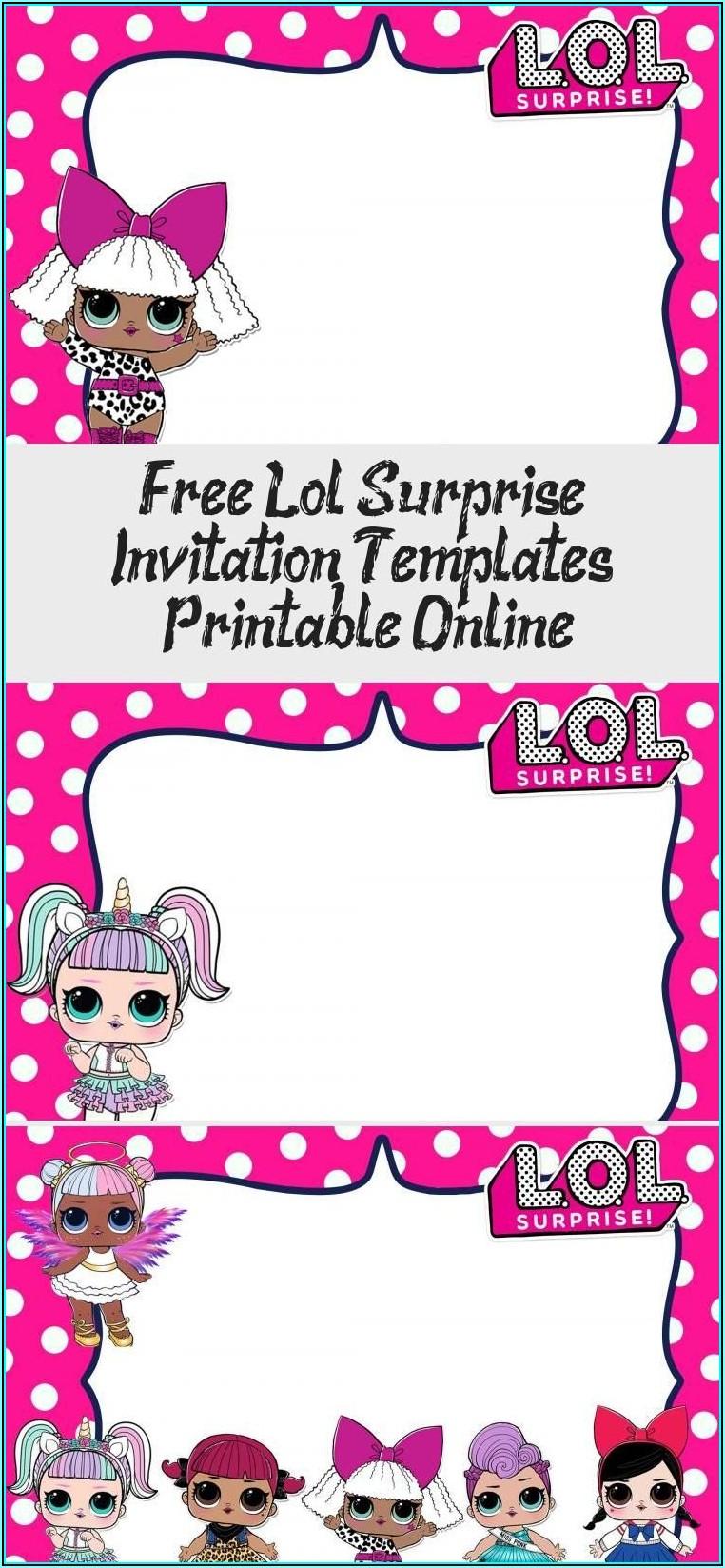 Lol Surprise Birthday Invitation Template