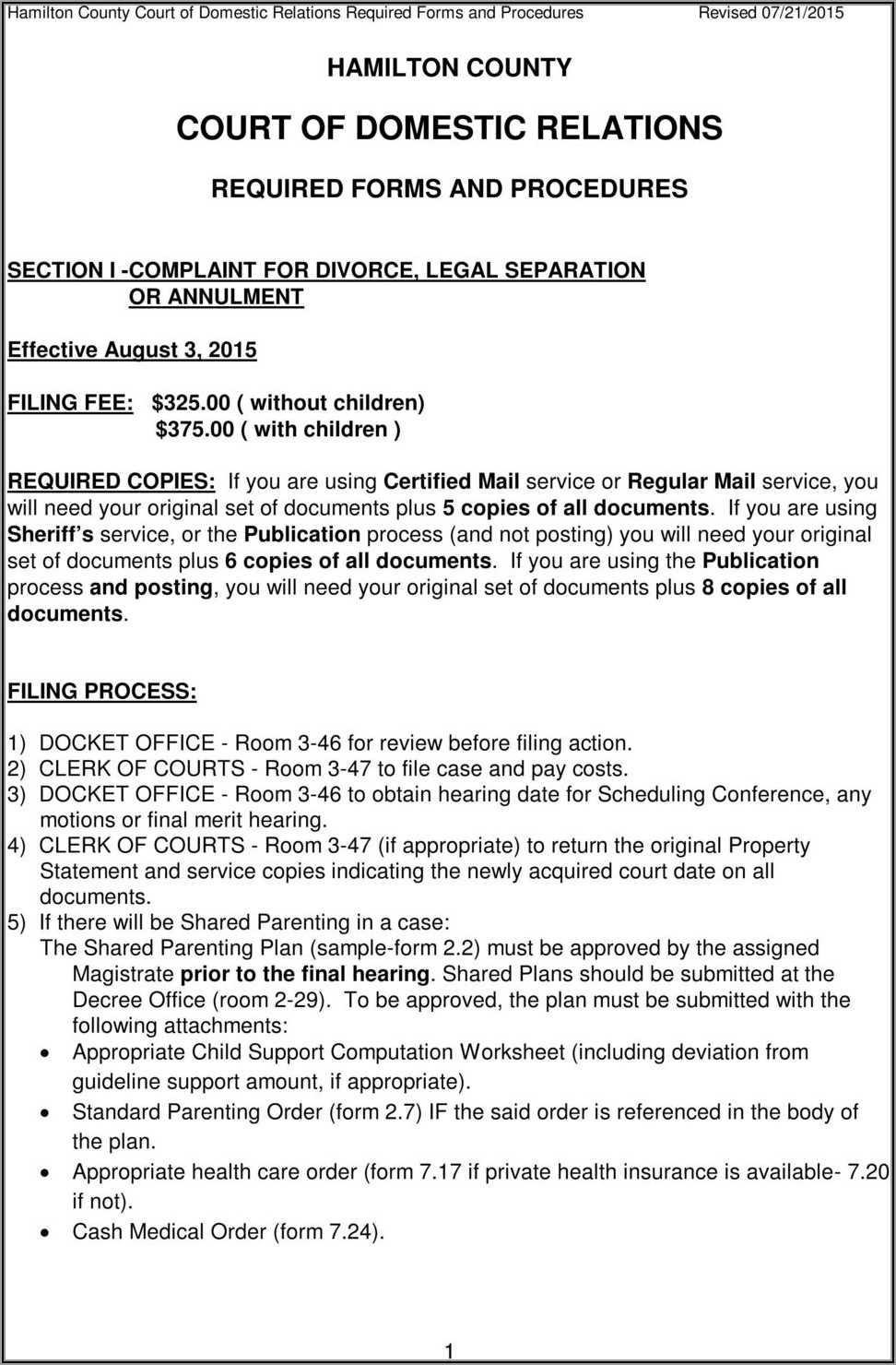 Lorain County Clerk Of Courts Divorce Forms