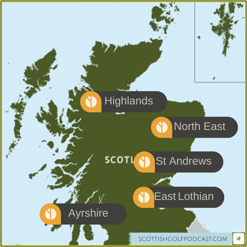 Map Of All Scottish Golf Courses