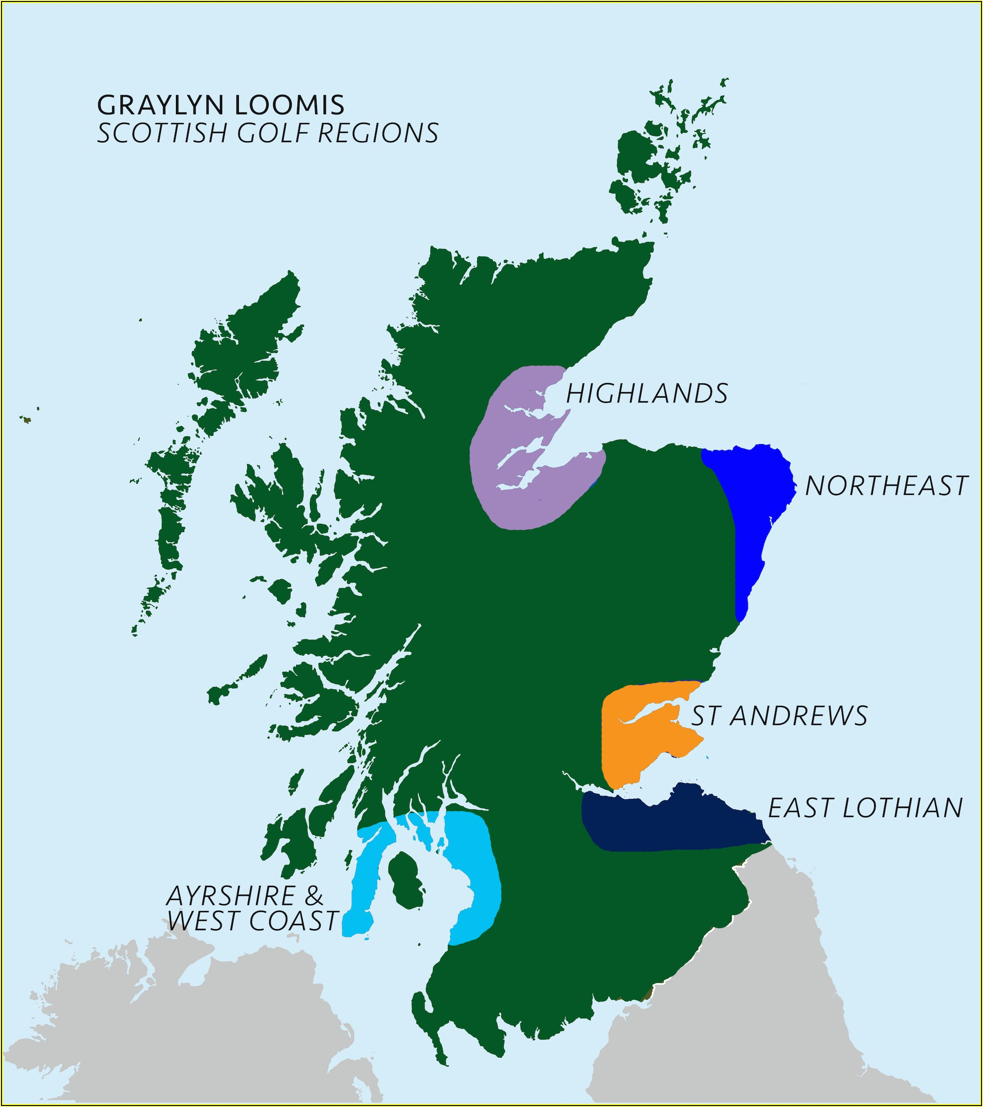 Map Of Best Scottish Golf Courses