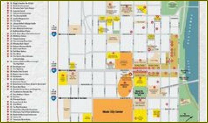 Map Of Hotels Around Nashville Tn
