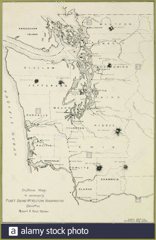 Map Of Puget Sound Washington