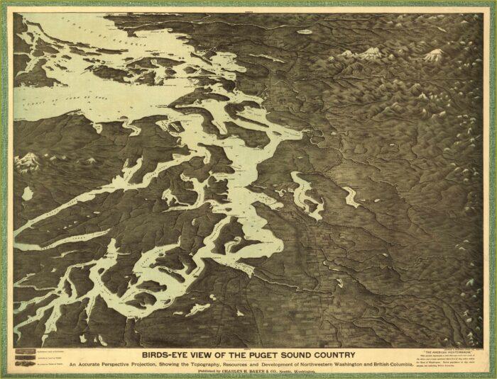 Map Of Puget Sound Washington State