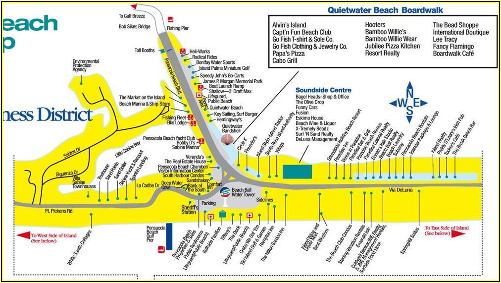 Map Of Resorts On Myrtle Beach Boardwalk