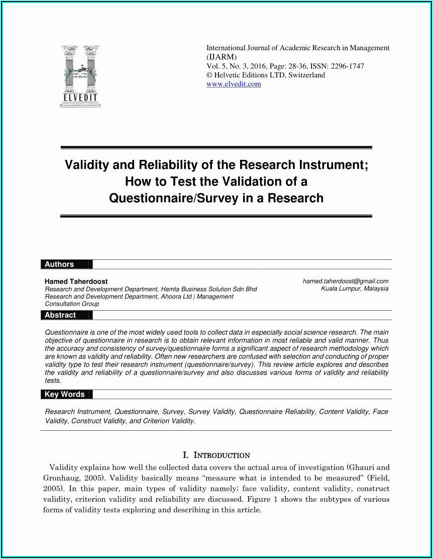 Market Research Survey Template Pdf