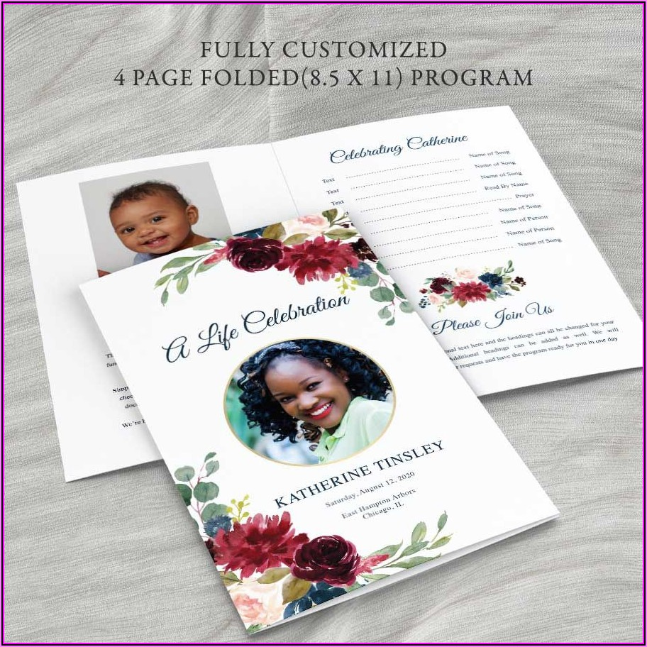 Memorial Service Booklet Template