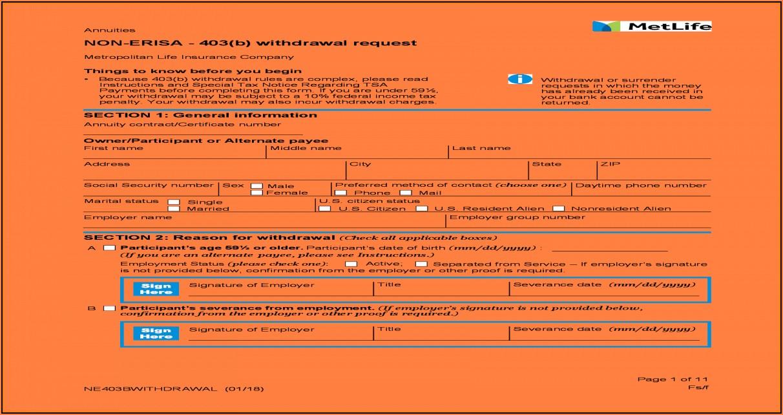 Metlife Forms Withdrawal 403b