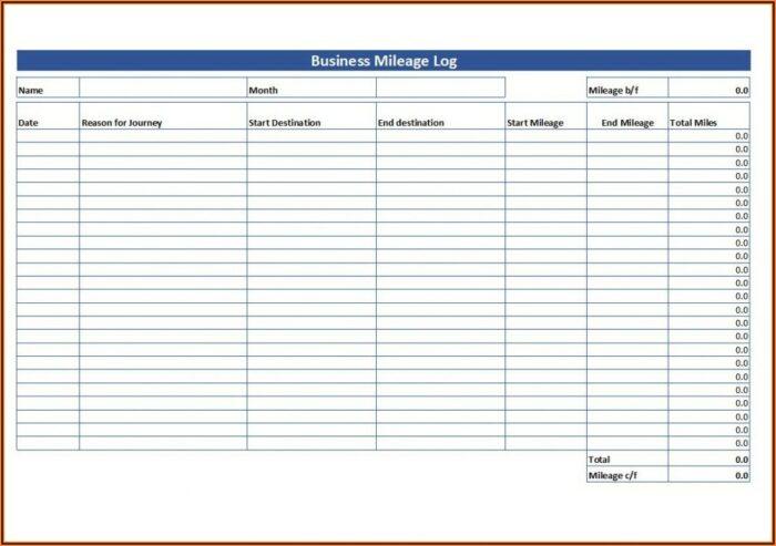 Mileage Tracking Form Pdf