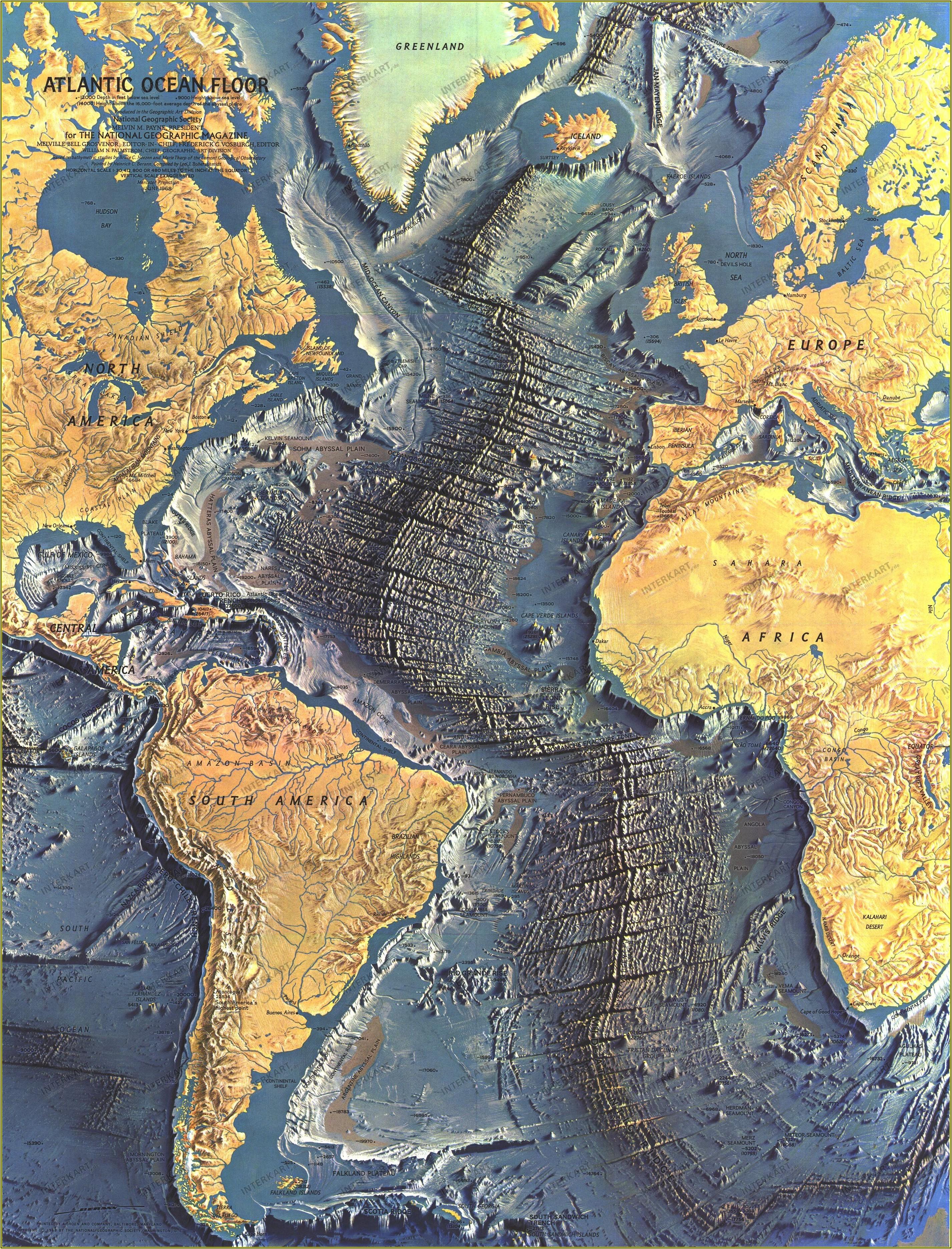 National Geographic Ocean Floor Maps