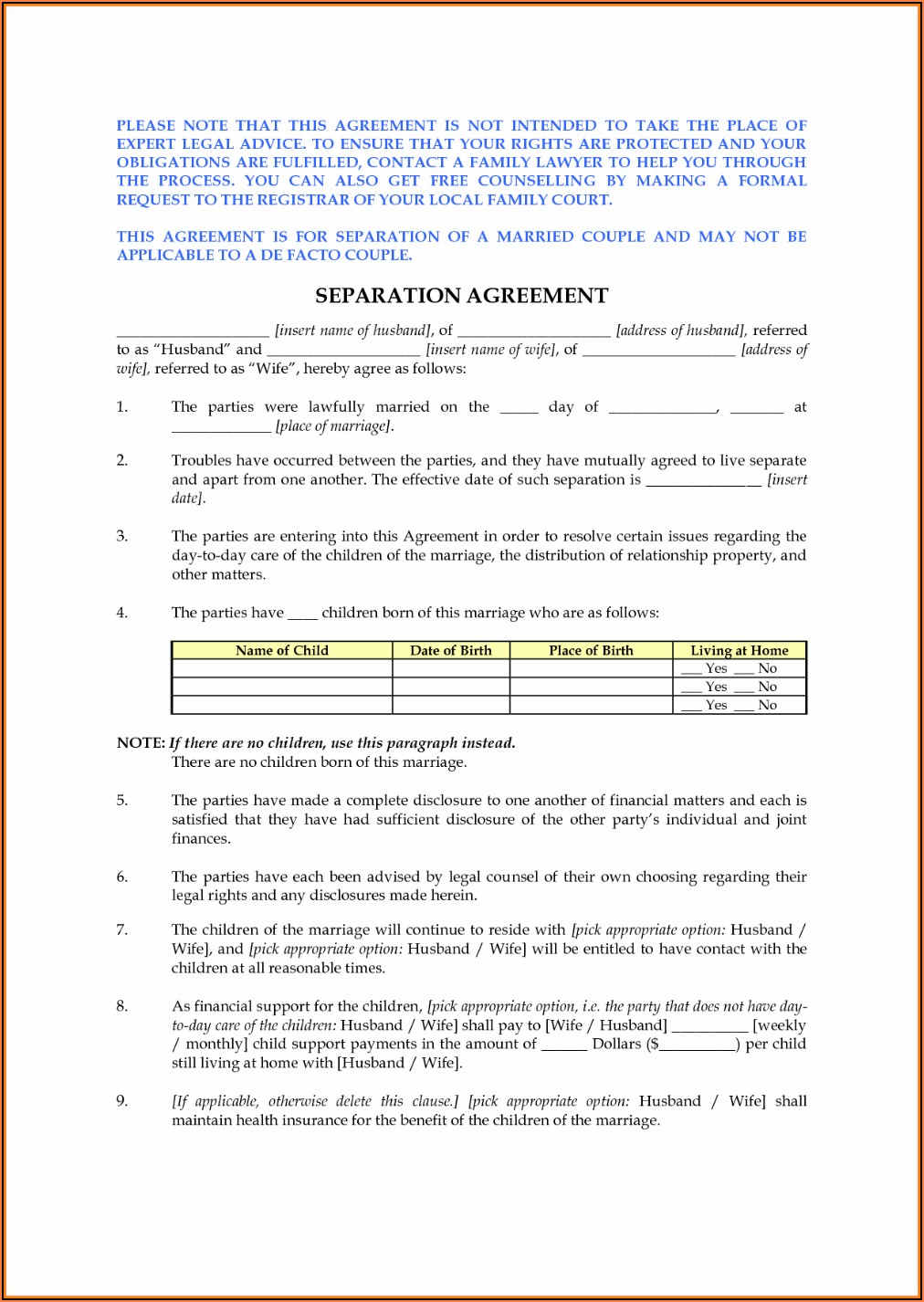 Nc Divorce Forms Download