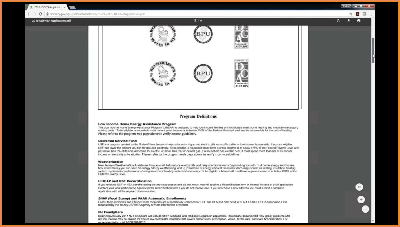 Nj Medicaid Application Form Pdf