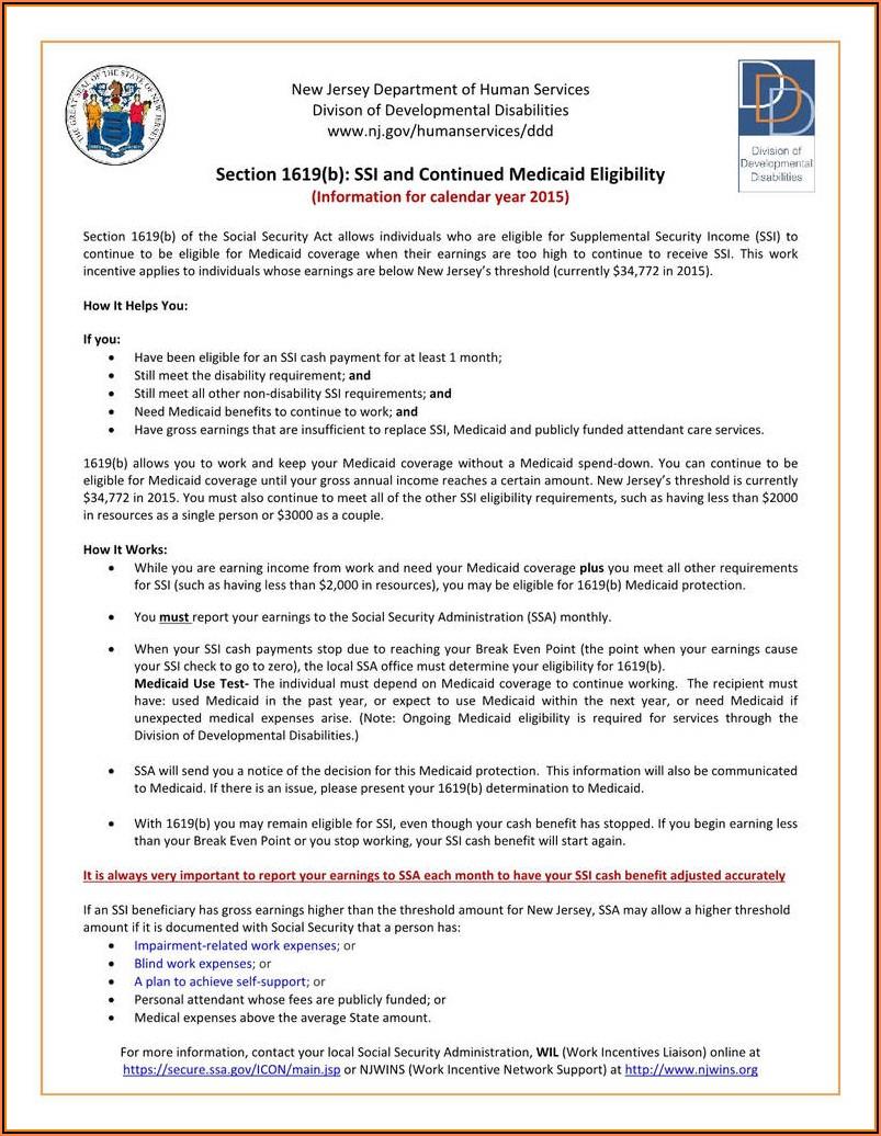 Nj Medicaid Renewal Application Form