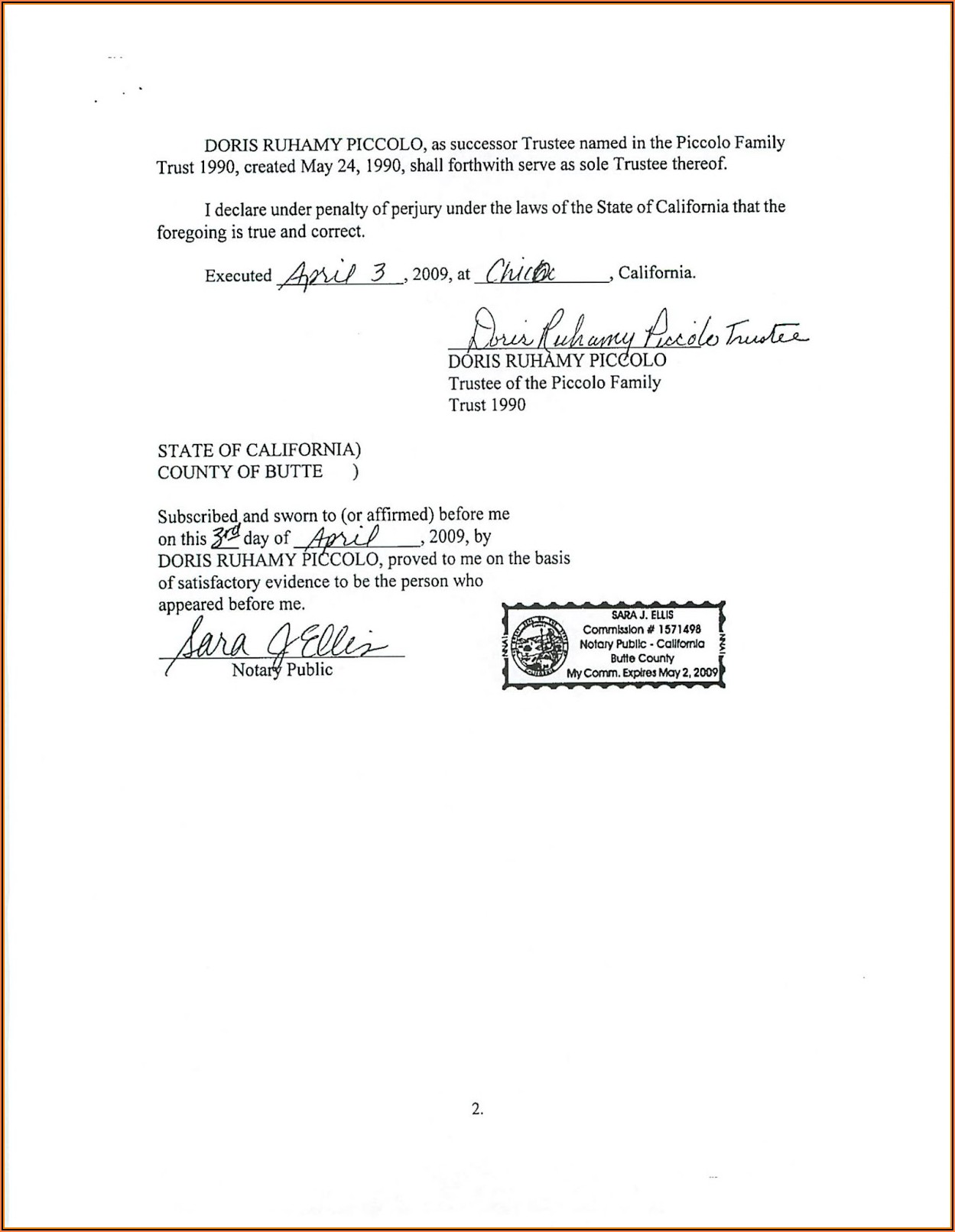 Notary Forms California Jurat