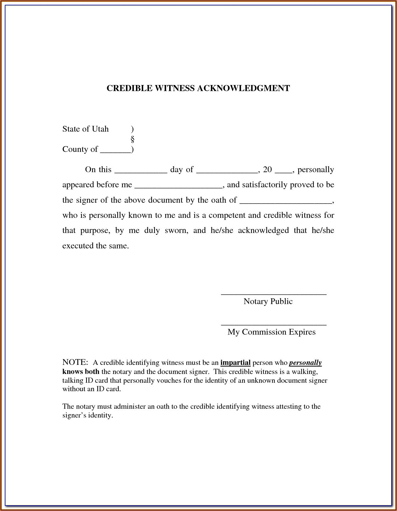Notary Forms Texas