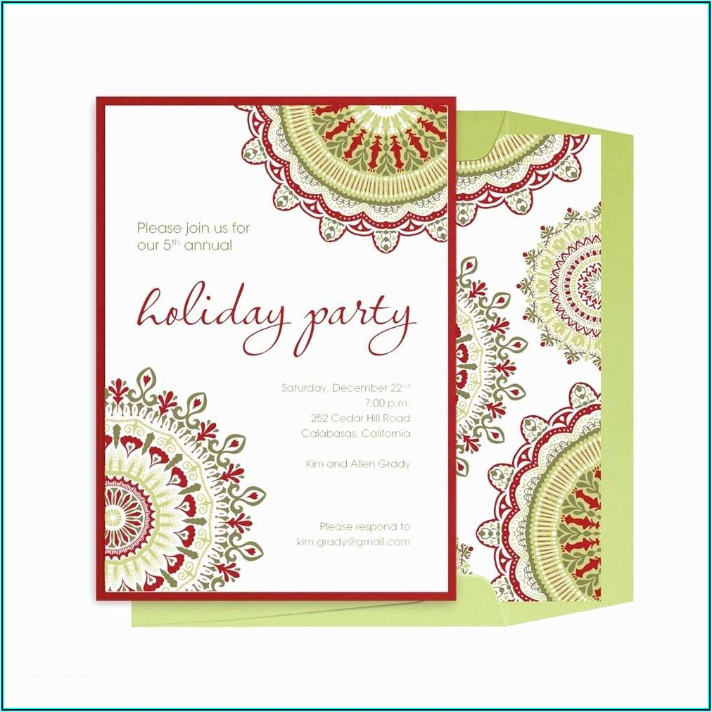 Office Holiday Invitation Templates