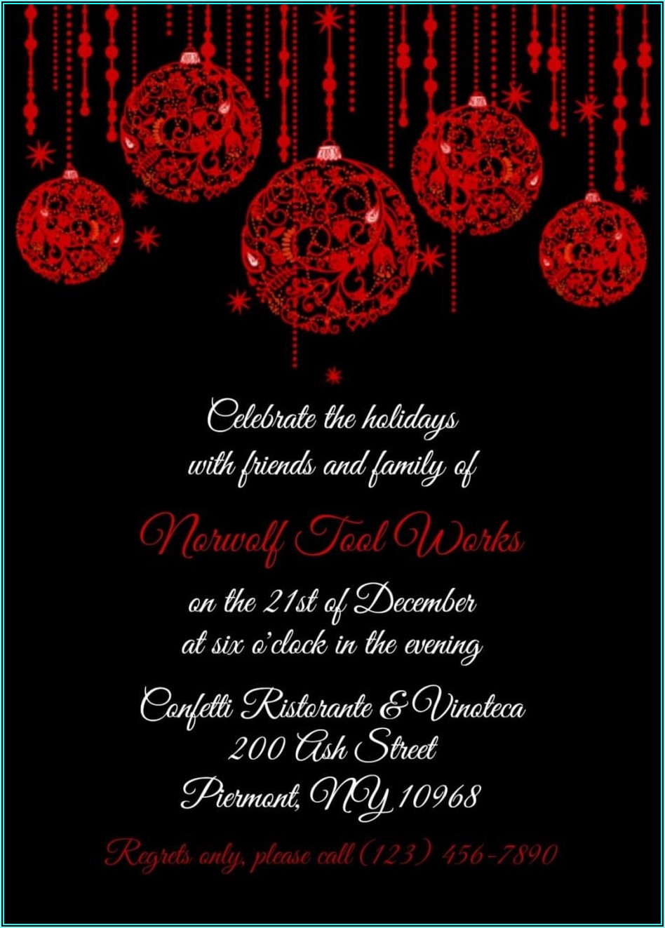 Office Holiday Party Invitation Templates Free