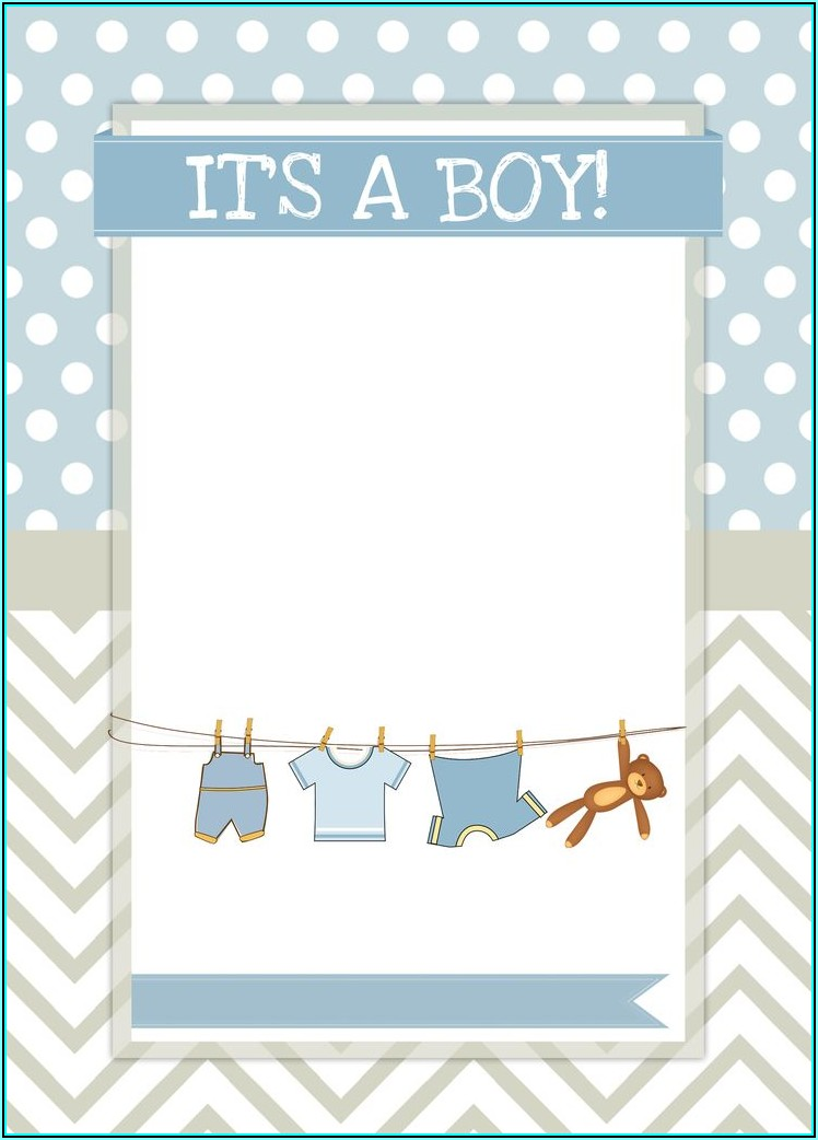 Oh Boy Baby Shower Invitation Templates