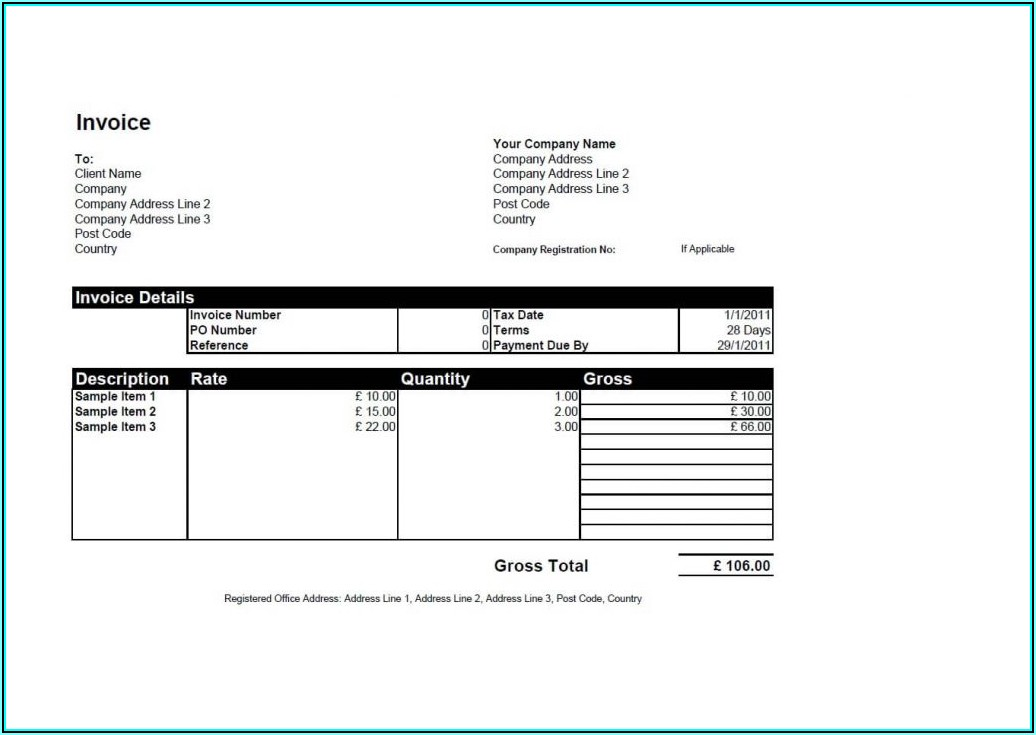 Open Office Excel Invoice Template