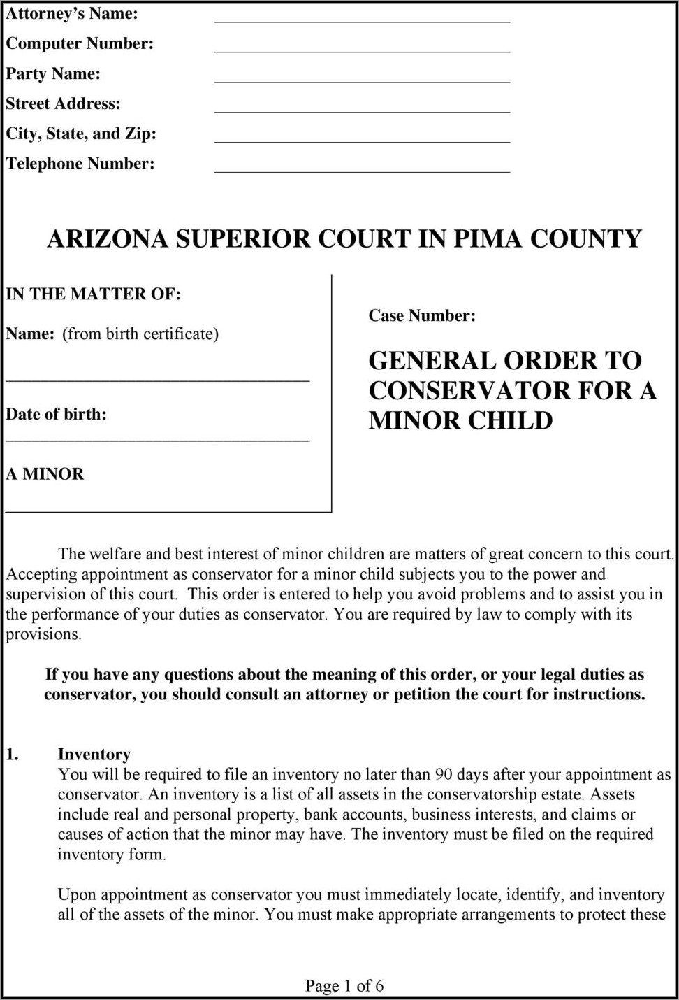 Pima County Justice Court Forms