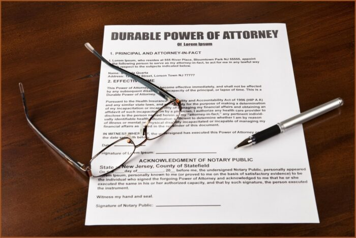 Power Of Attorney Form Free