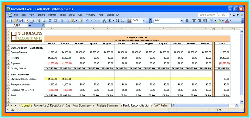 Prepaid Reconciliation Template Excel