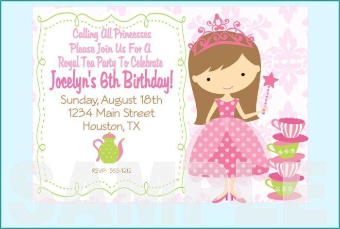 Princess Birthday Invite Template