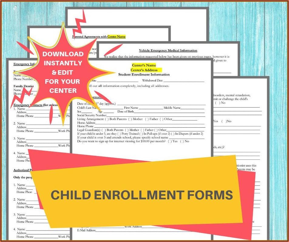 Printable Daycare Enrollment Forms