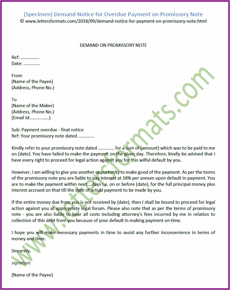 Promissory Note Format