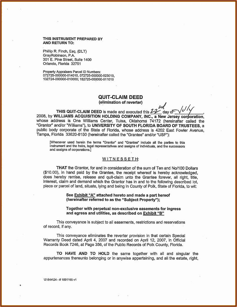 Quit Claim Deed Form Nj Pdf