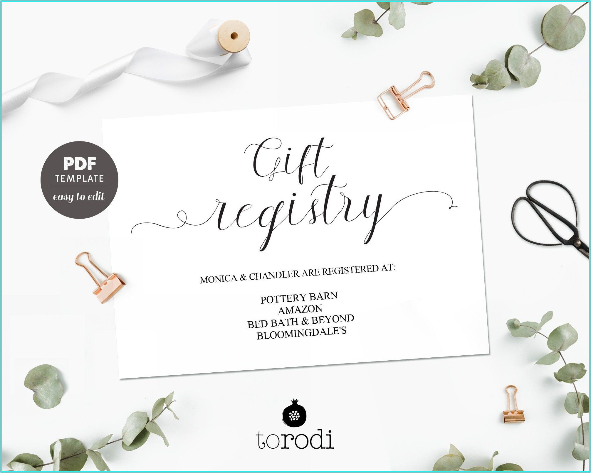 Registry Inserts For Wedding Invitations Templates