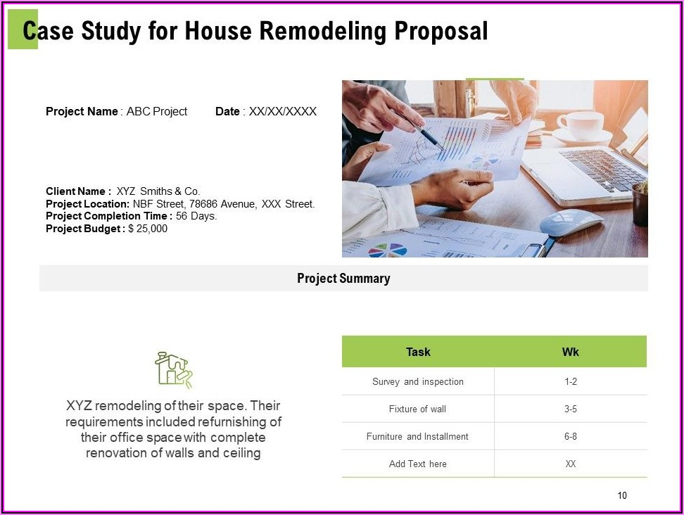 Remodeling Proposal Example