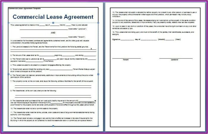 Rental Agreement Template For Office Space