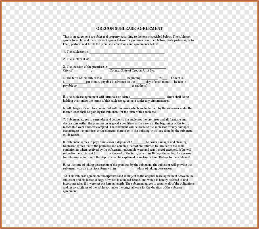 Renting Contract Form