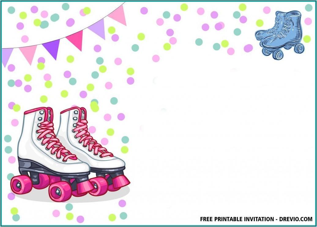 Roller Skating Birthday Invitations Templates Free