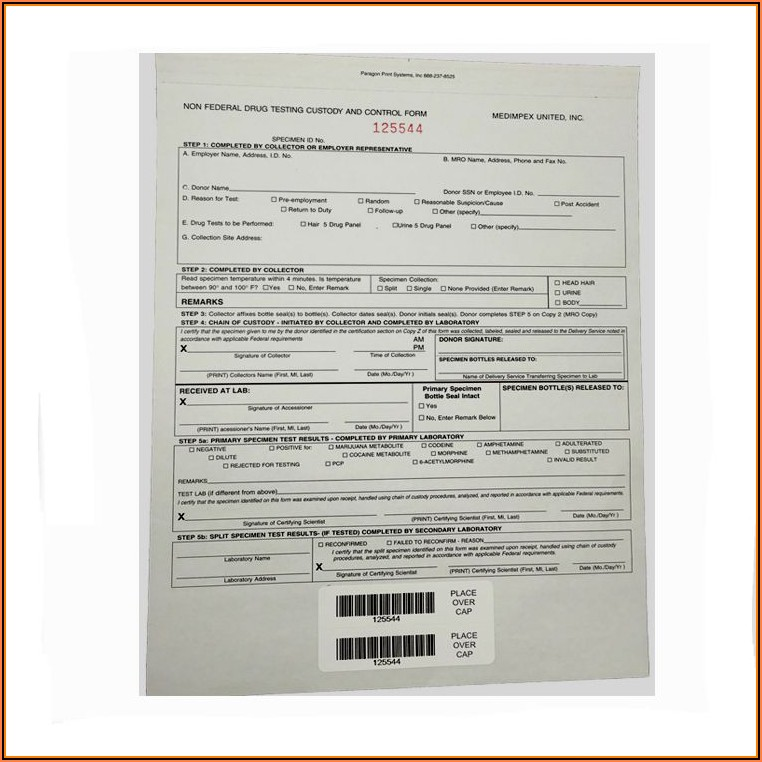 Sample Chain Of Custody Form For Drug Testing