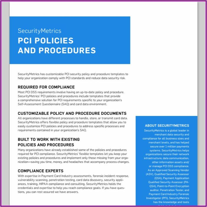 Sample Pci Dss Information Security Policy