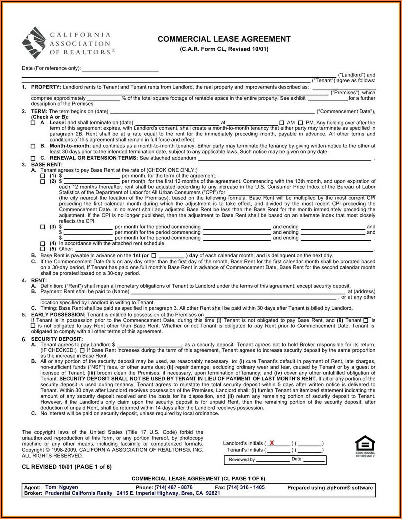 Sample Vehicle Lease Agreement Form