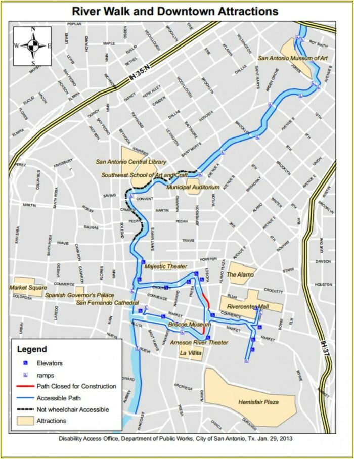 San Antonio Tx Riverwalk Hotels Map