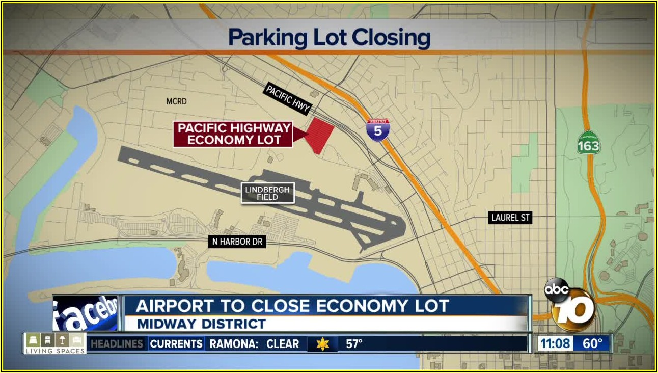 San Diego Airport Parking Lot Map
